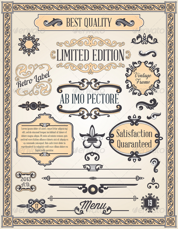 GraphicRiver Calligraphic Design Elements and Page Decoration 4526172