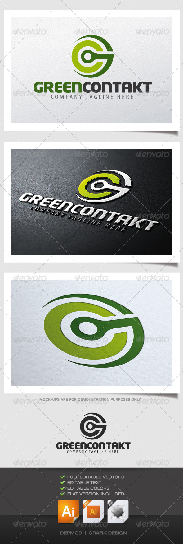 GraphicRiver Green Contakt Logo 4526246
