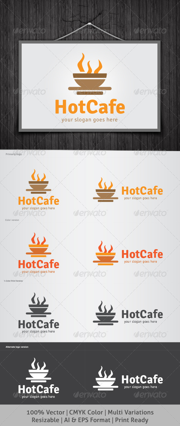 GraphicRiver Hot Cafe Logo 4526339