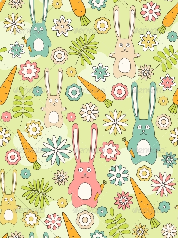 GraphicRiver Nature Seamless Pattern 4526411