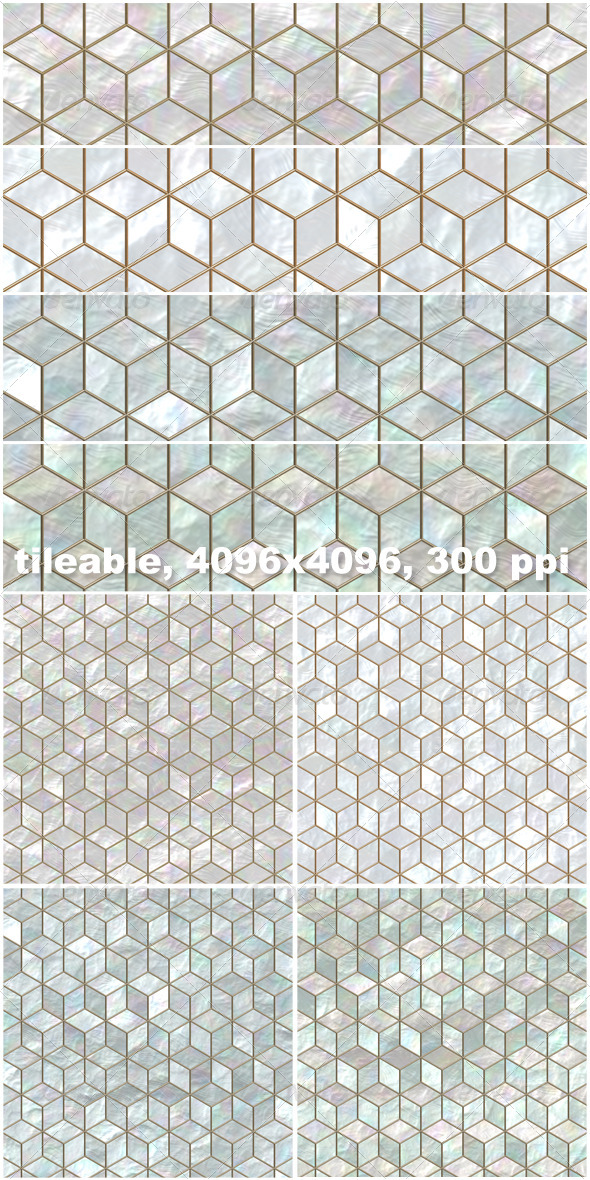 4 Mother of Pearl Mosaic Backgrounds - Nature Backgrounds