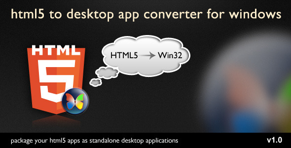 HTML5 2 Desktop App Converter - WorldWideScripts.net vare til salg