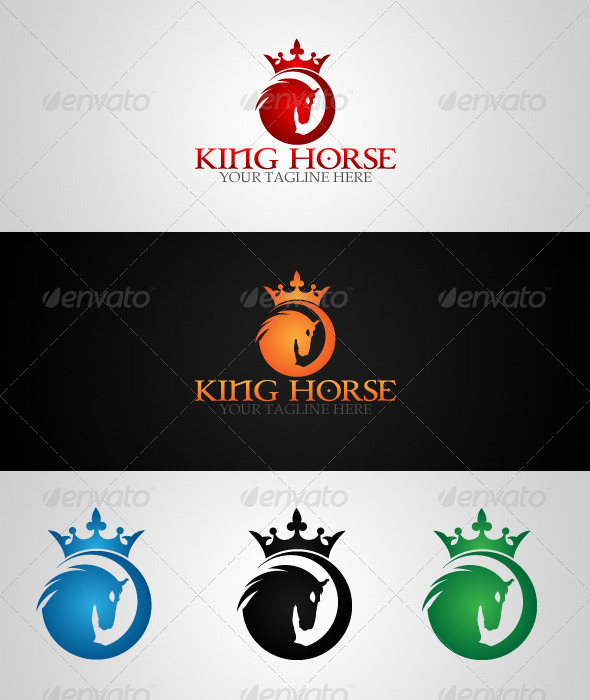GraphicRiver King Horse Logo Template 4493046