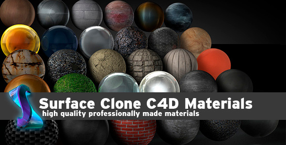 3DOcean Surface Clone C4D materials 4527861