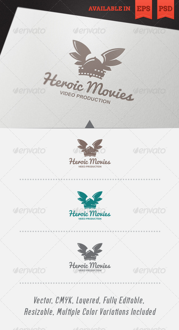 GraphicRiver Heroic Movies Logo Template 4529276