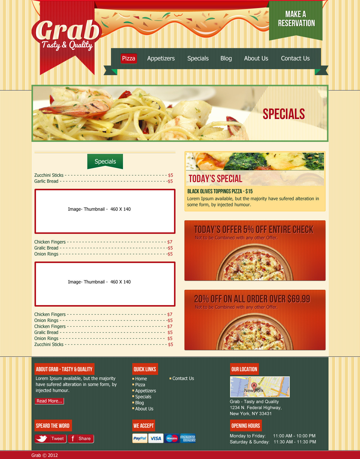 Grab Restaurant Theme - HTML Template