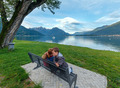 Lake Como view (Italy) and family - PhotoDune Item for Sale