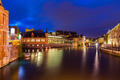 Ghent canal in the evening. Ghent, Belgium - PhotoDune Item for Sale