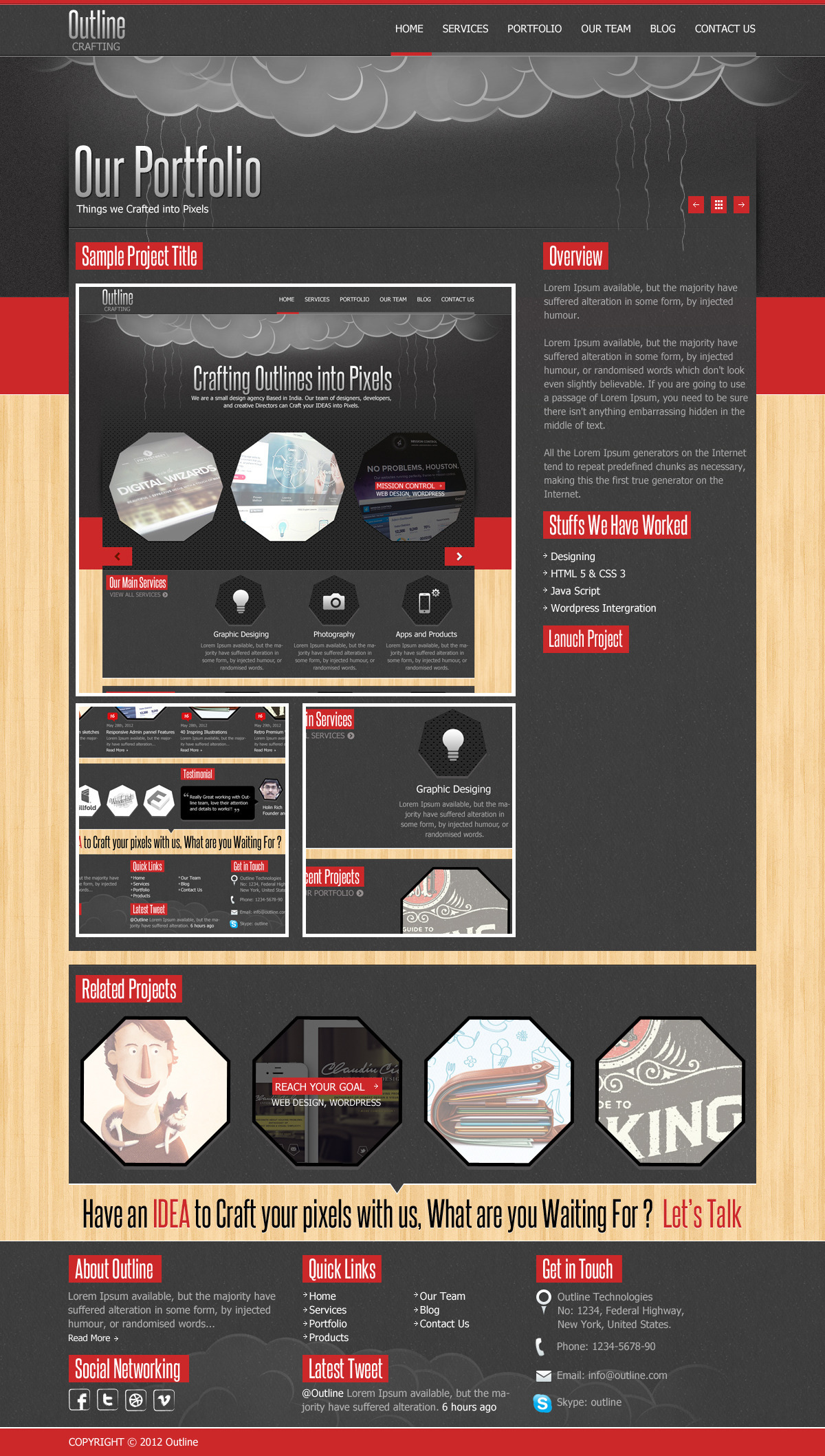 Outline Multi Purpose PSD Template