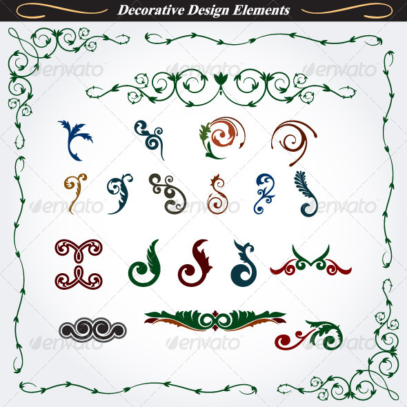 GraphicRiver Collection of Decorative Design Elements 7 4531502