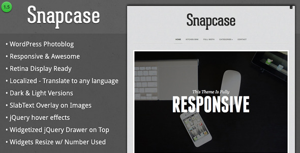 Snapcase - Responsive WordPress Photoblog Theme - Photography Creative