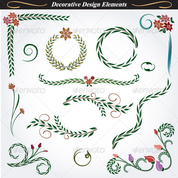 GraphicRiver Collection of Decorative Design Elements 10 4531654