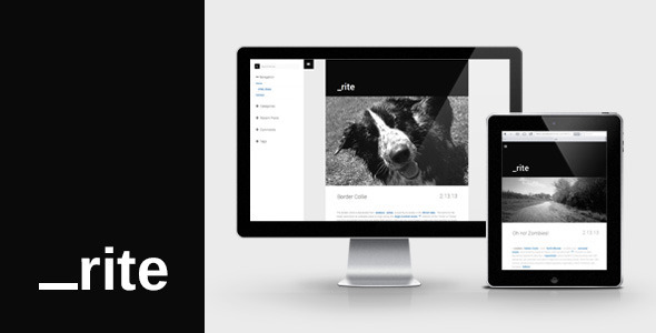 _rite : Minimal, Responsive, Blog - Personal Blog / Magazine