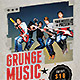 Grunge Music Party Flyer - GraphicRiver Item for Sale