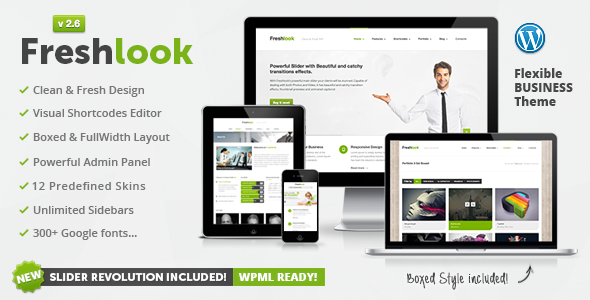 Freshlook - Responsive Multi-Purpose WP Theme - Corporate WordPress