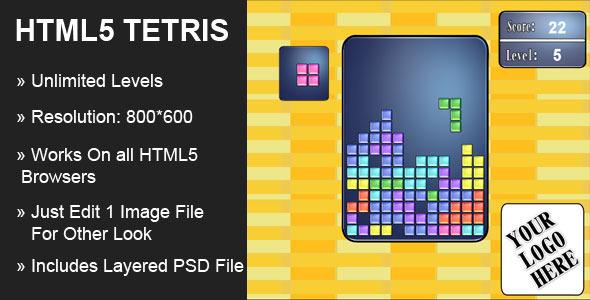 CodeCanyon HTML5 Tetris 4533071