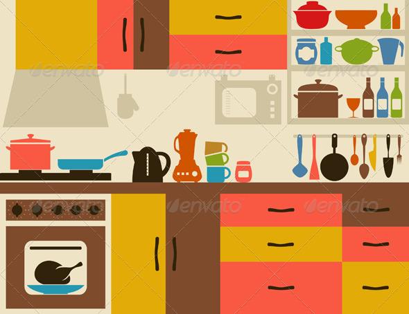Kitchen Room Clipart Home Design Jobs