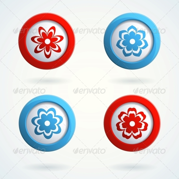 GraphicRiver Icons with Flowers 4533447