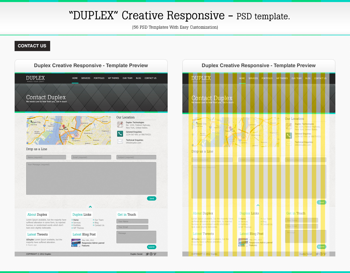 Duplex Creative Responsive PSD Template