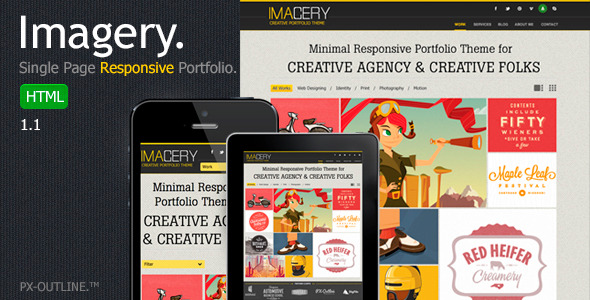 Imagery - Single Page Responsive Portfolio