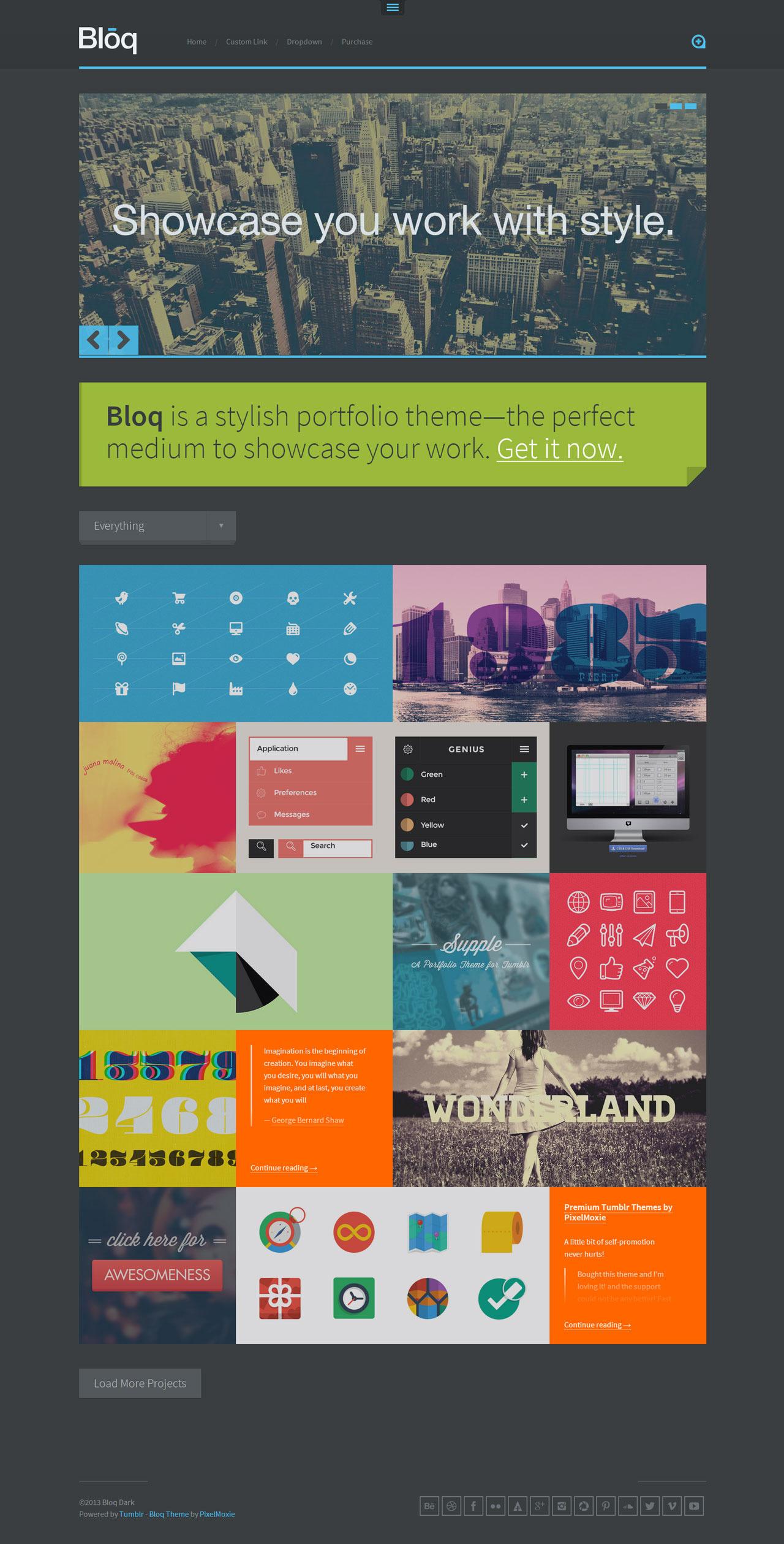Bloq - A Blocky Portfolio Theme for Tumblr
