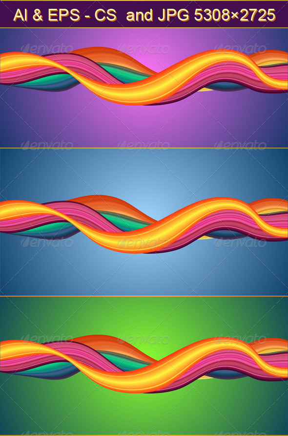 GraphicRiver Abstract Vector Design with Multicolored Waves 4534252