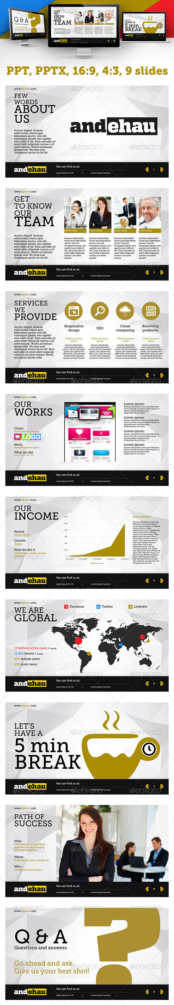 GraphicRiver Modern Business PowerPoint Presentation 4534779