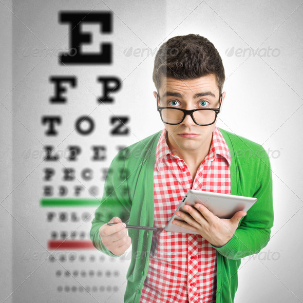 Eye vision problem - Stock Photo - Images