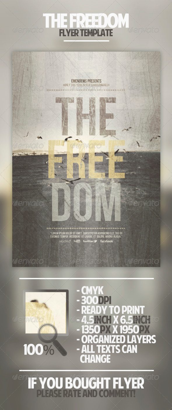 GraphicRiver The Freedom Flyer Template 4536019