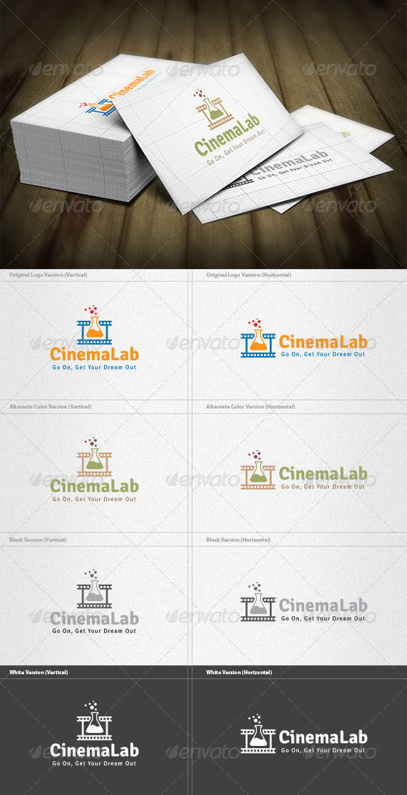 GraphicRiver Cinema Lab Logo 4536020