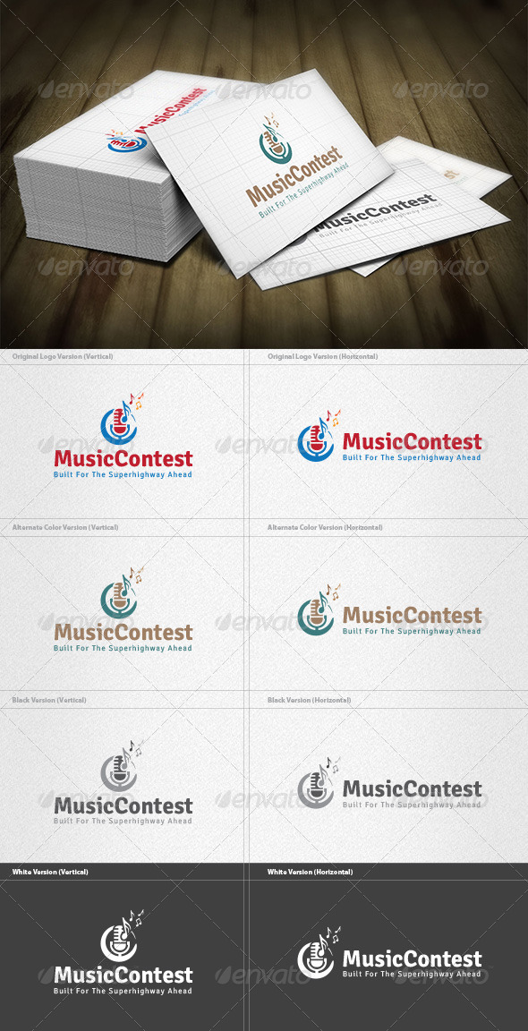 GraphicRiver Music Contest Logo 4536036
