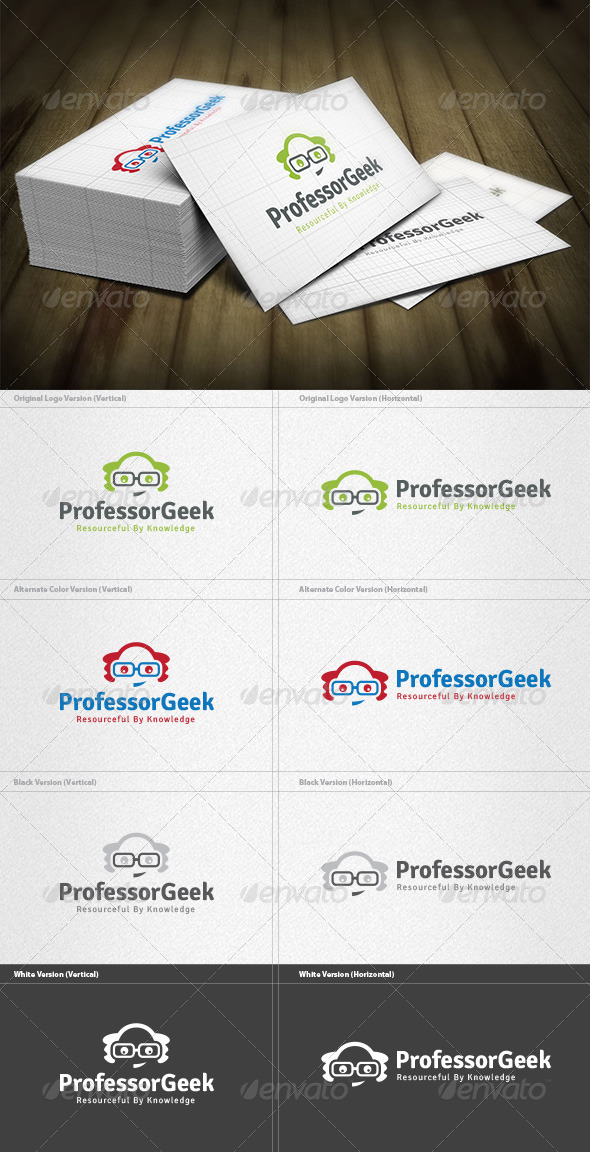 GraphicRiver Professor Geek Logo 4536061