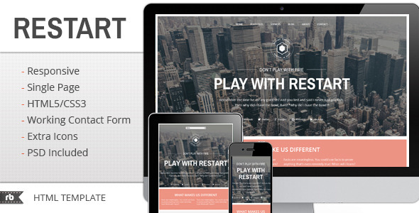 ThemeForest Restart HTML Portfolio template 4534948