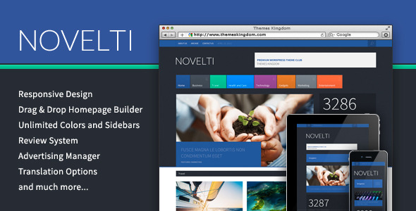 Novelti - Responsive Magazine WordPress Theme