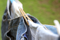 Jeans on Clothes Line - PhotoDune Item for Sale