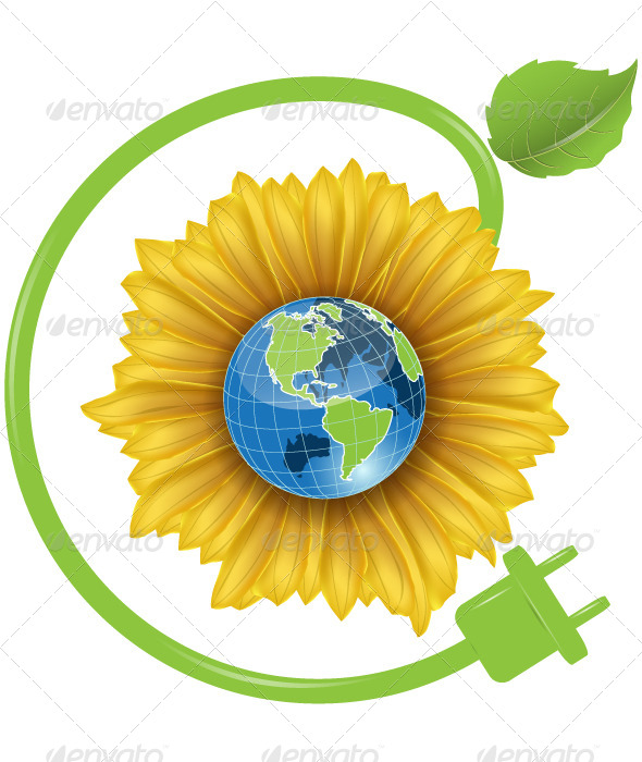 GraphicRiver Sunflower and Globe 4538933