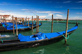 Gondolas docked in Piazza San Marco, Venice - PhotoDune Item for Sale
