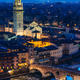 Verona night view with Ponte Pietra and Duomo - PhotoDune Item for Sale