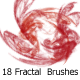 18 Fractal  Brushes - GraphicRiver Item for Sale