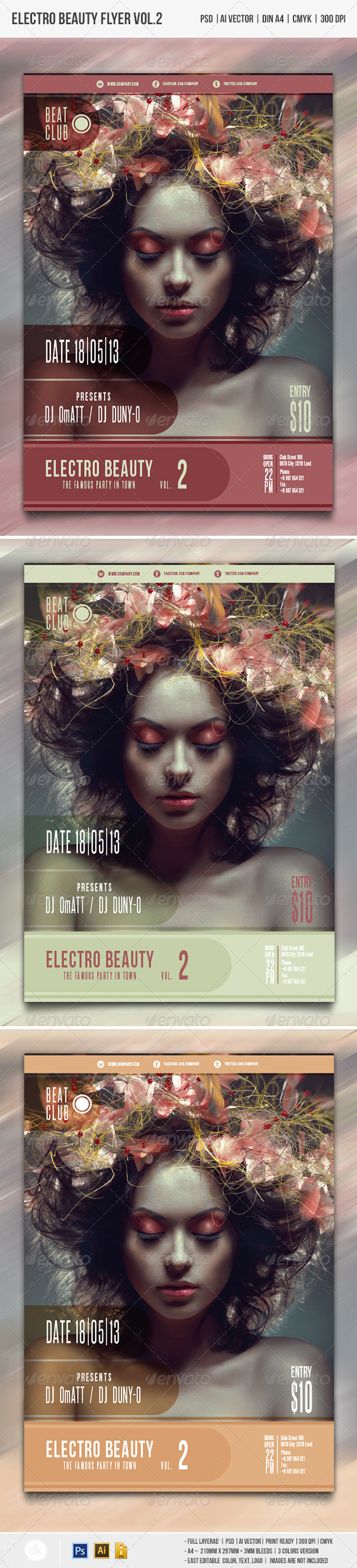 GraphicRiver Electro Beauty Flyer vol.2 4450181