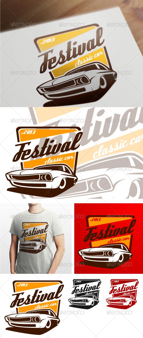 GraphicRiver festival classic car logo templates 4540090