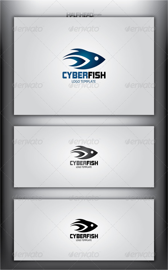 GraphicRiver CyberFish Logo Template 4540194