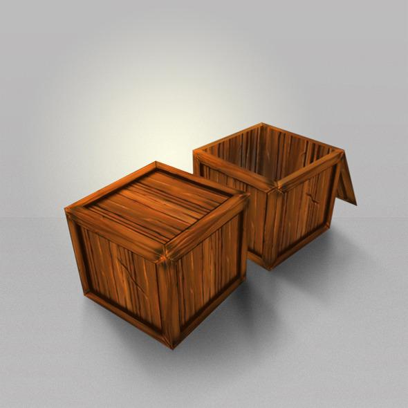 3DOcean Wood Box Lowpoly 4540509