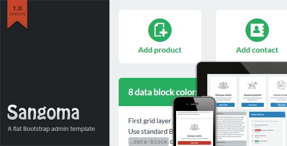 ThemeForest Sangoma Bootstrap Admin Template 4540642