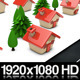 Cartoon Houses Building Up Along Roadside - Loop - VideoHive Item for Sale
