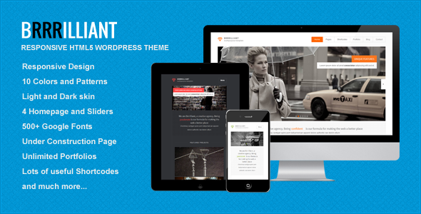 Brrrilliant wordpress theme download