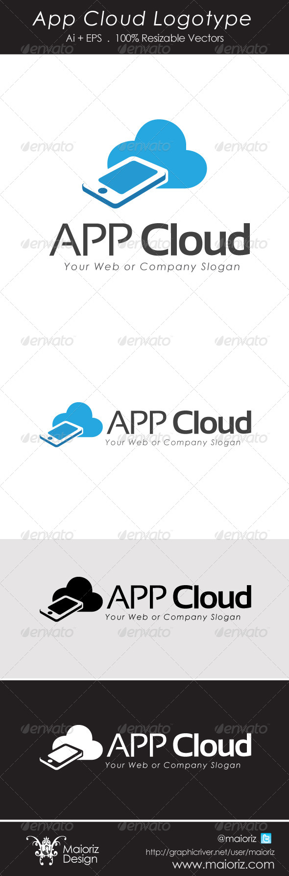 App Cloud Logotype - Objects Logo Templates