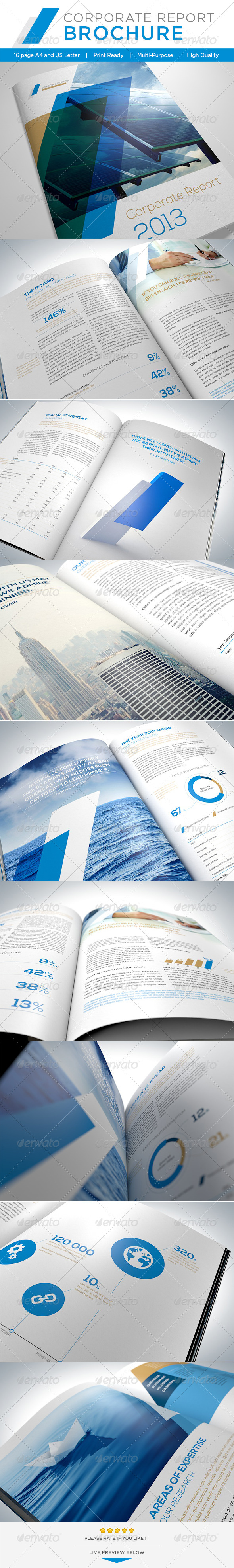 Corporate Report Brochure - Brochures Print Templates