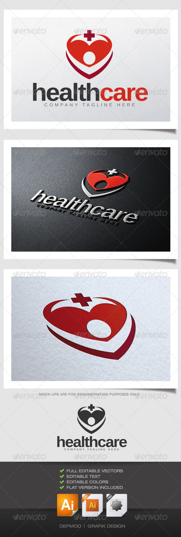 GraphicRiver Health Care Logo V02 4541552