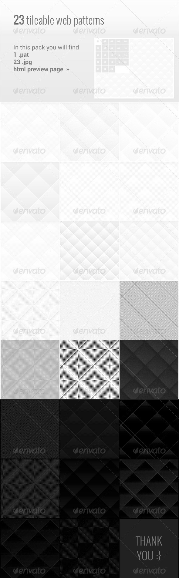 GraphicRiver 23 Light Dark Web Patterns 4541600